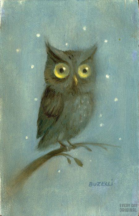 Owl by Chris Buzelli