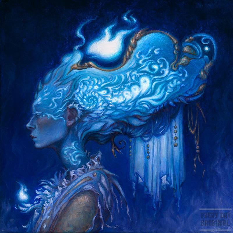 Intelligent Design Original Oil Painting by Kristina Carroll