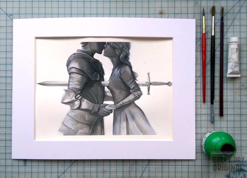 Lancelot and Guinevere by Michael Manomivibul