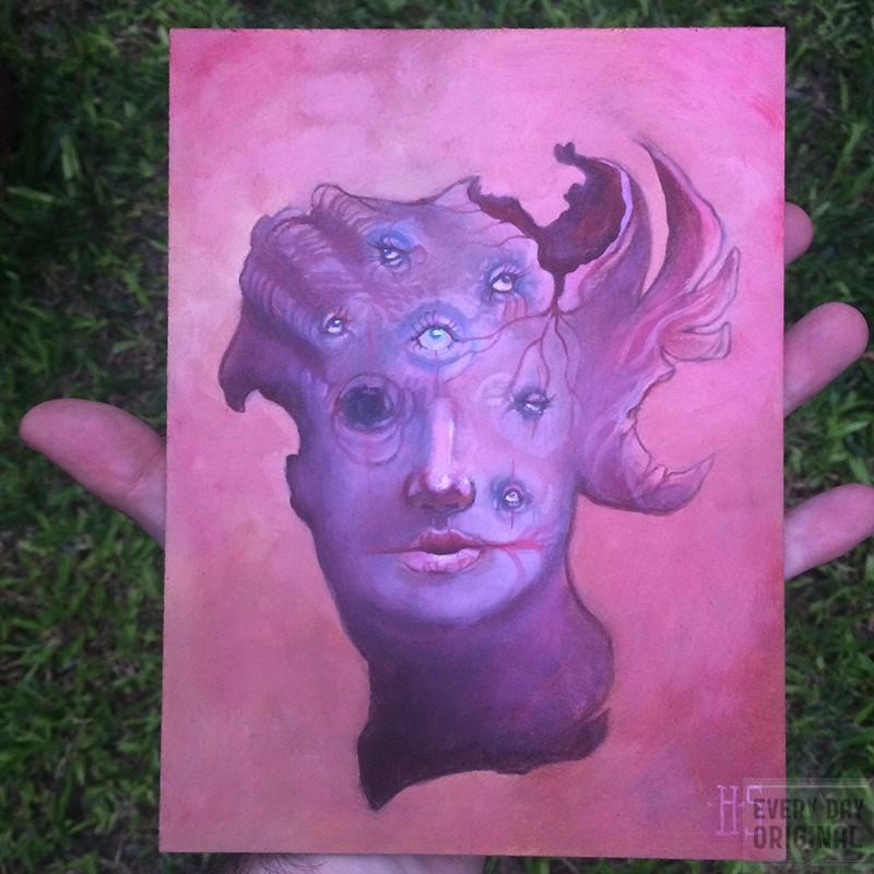 """""""Seven Eyes"""", art by HP Santoro"""