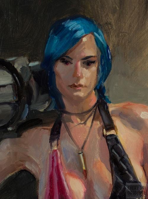 Detail of Jinx by Aaron Miller