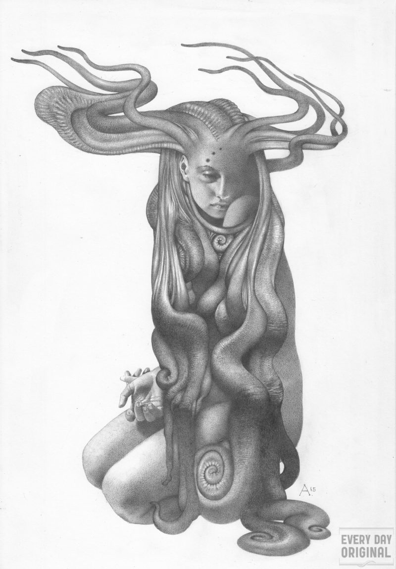 Graphite piece by Allen Williams