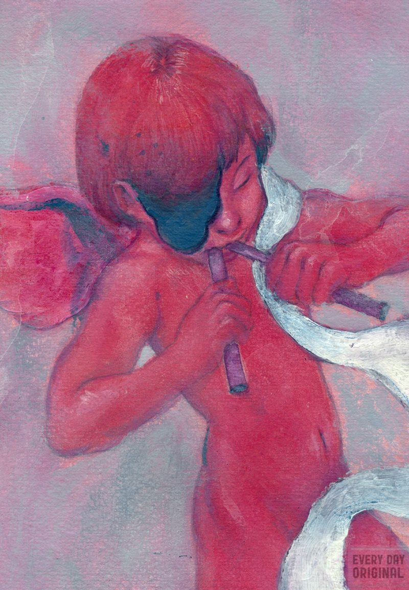 An Illustration of a Cherub by Zach Nien