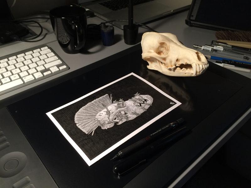 A previous client sent me animal skulls as a show of appreciation. I appreciate animal skulls as shows of appreciation.