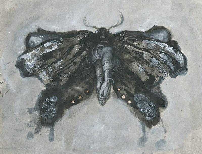 Moth illustration by Jana Heidersdorf