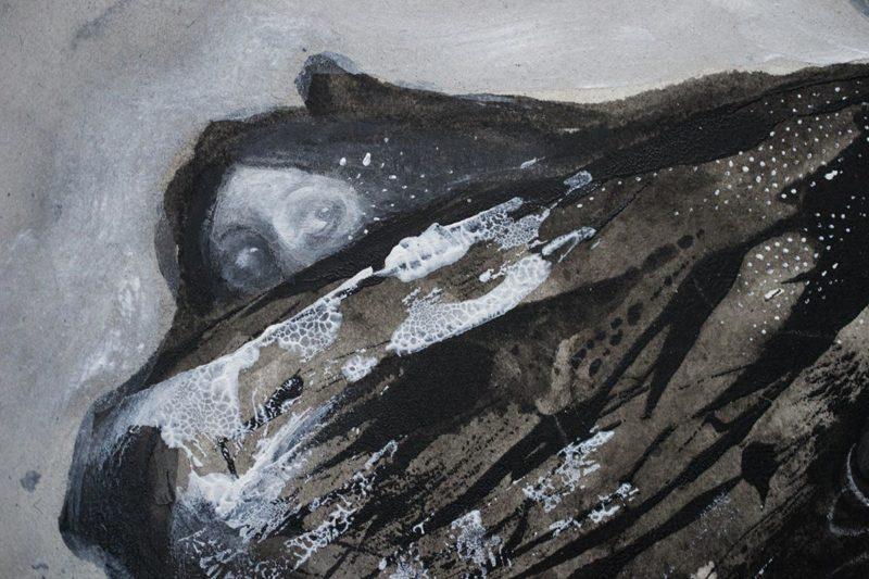 close up on moth illustration by Jana Heidersdorf