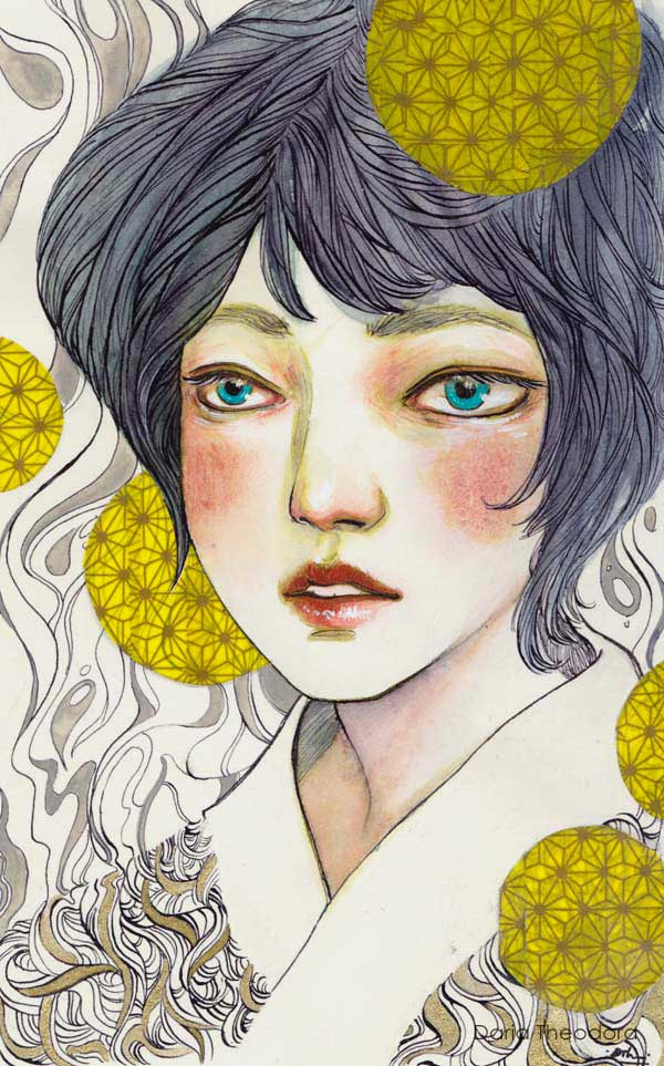 Blue Iris by Daria Theodora