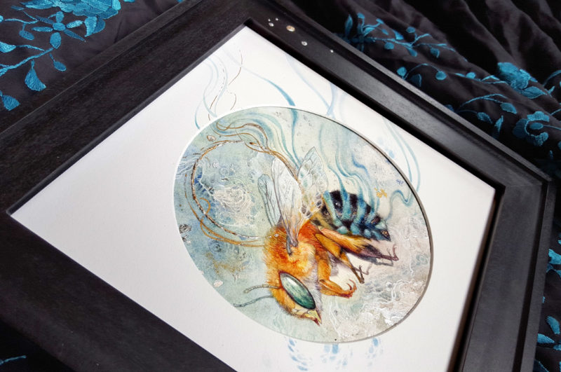 "Watercolor Painting by Stephanie Law - ""Trailing Blue"""