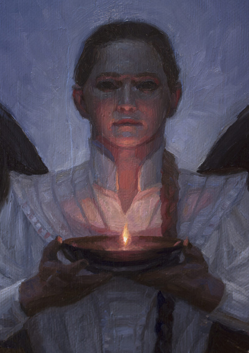 A painting of an angel by Ryan Pancoast
