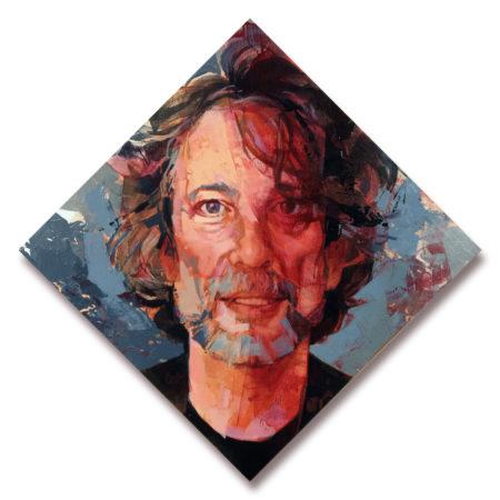 Portrait of Neil Gaiman, original art by Bud Cook