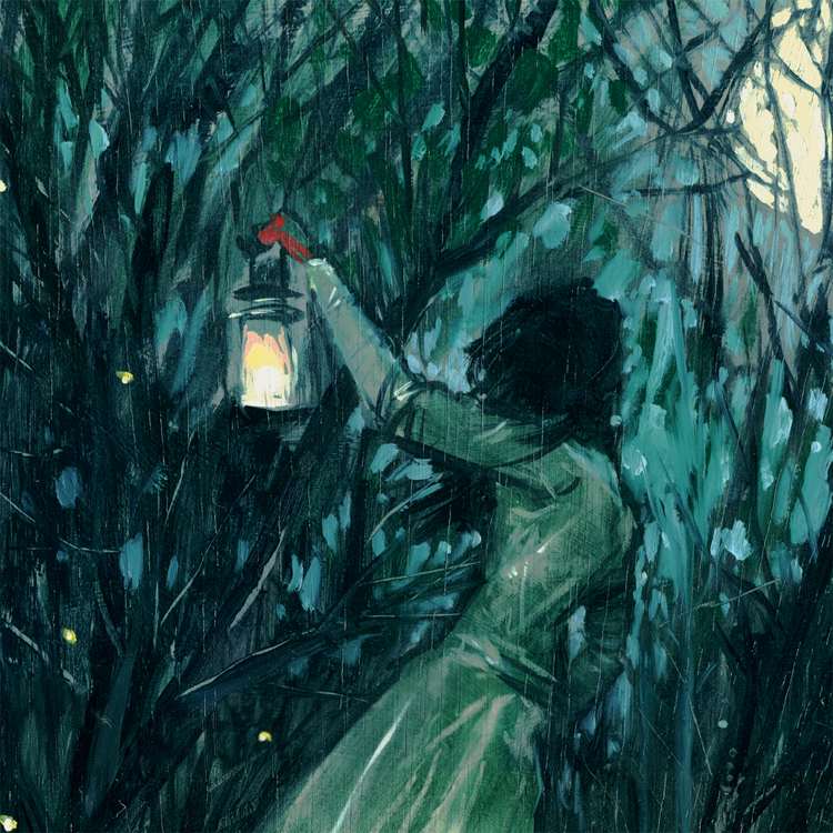 Firefly and Lantern Painting