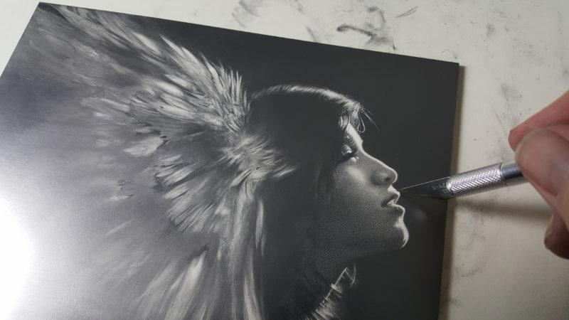 Allen Williams March EDO in graphite on claybord