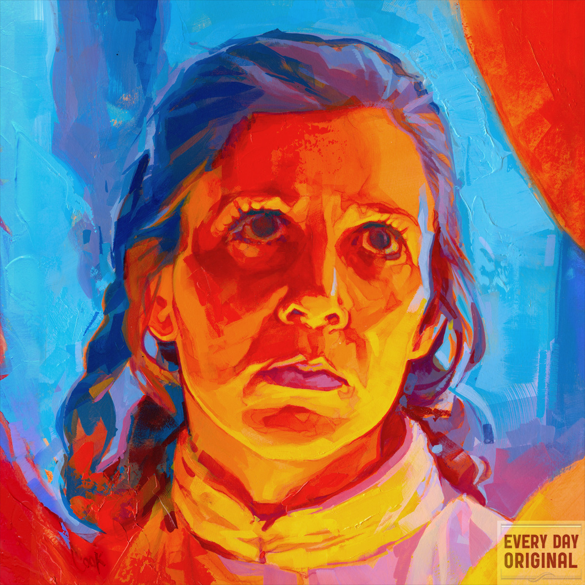 Portrait of Princess Leia by Bud Cook