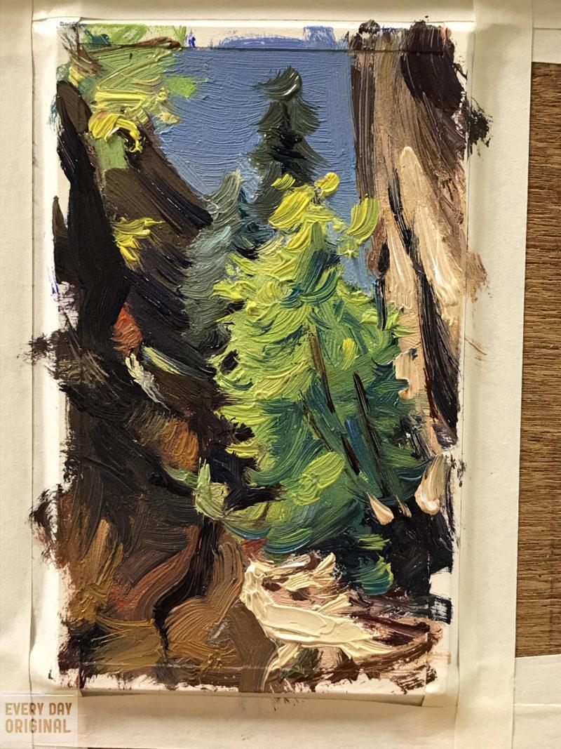 Ron Lemen Plein air at Zion National Park