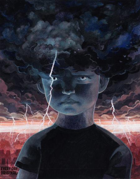 lightning thunder storm serena malyon illustration