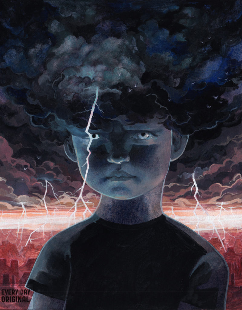 lightning thunder storm serena malyon illustration