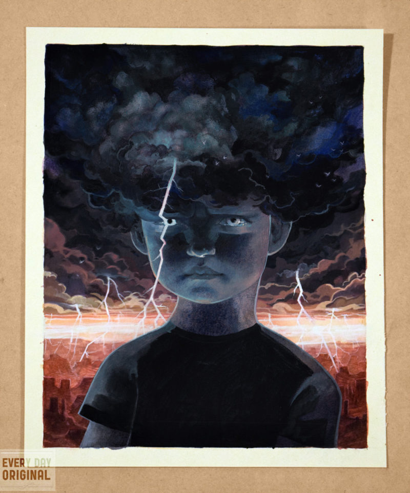 Tempestuous serena malyon illustration thunder storm