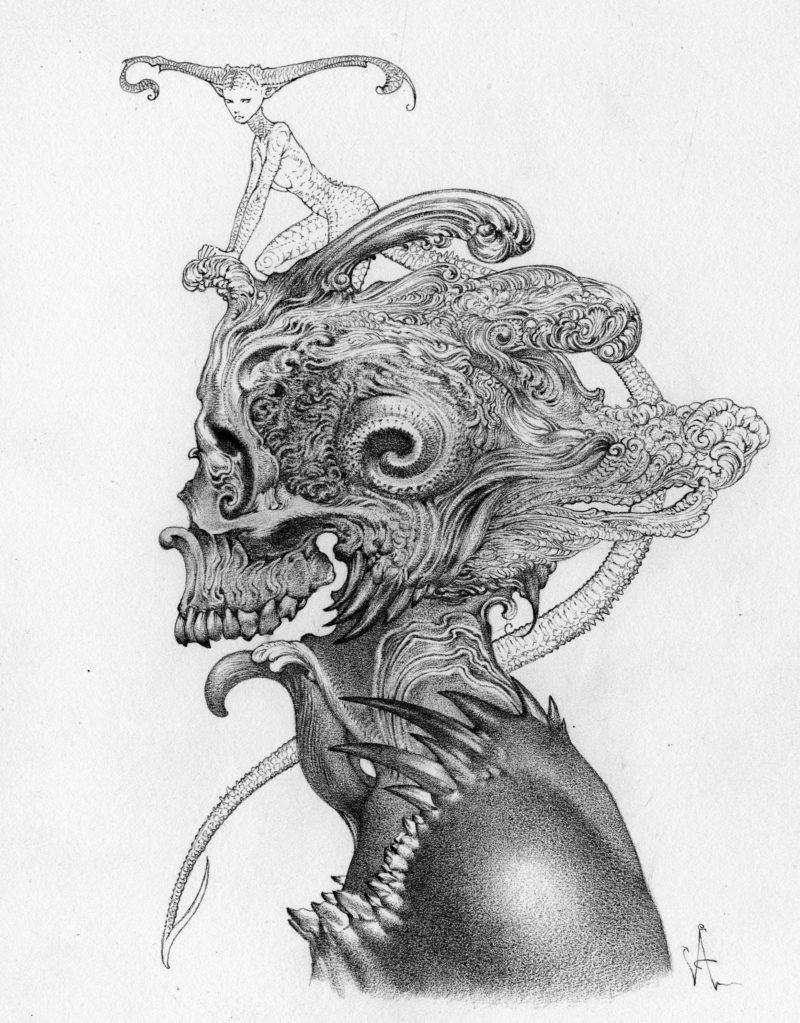 Allen Williams graphite piece Little Sister