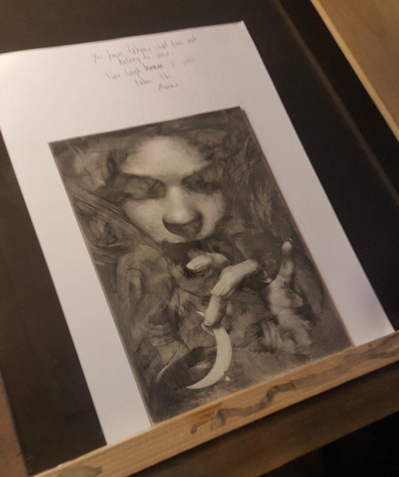 Allen Williams Powdered graphite Dec EDO