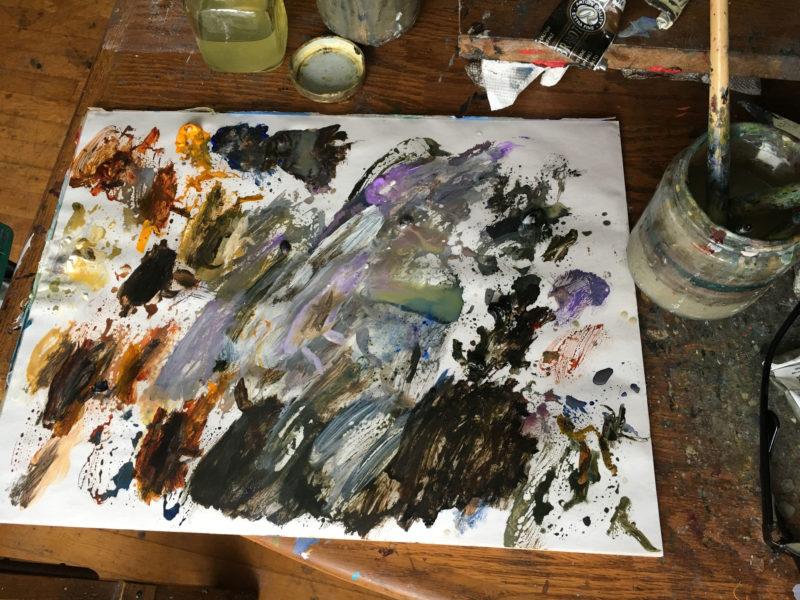 Donato Giancola auction - Reach palette
