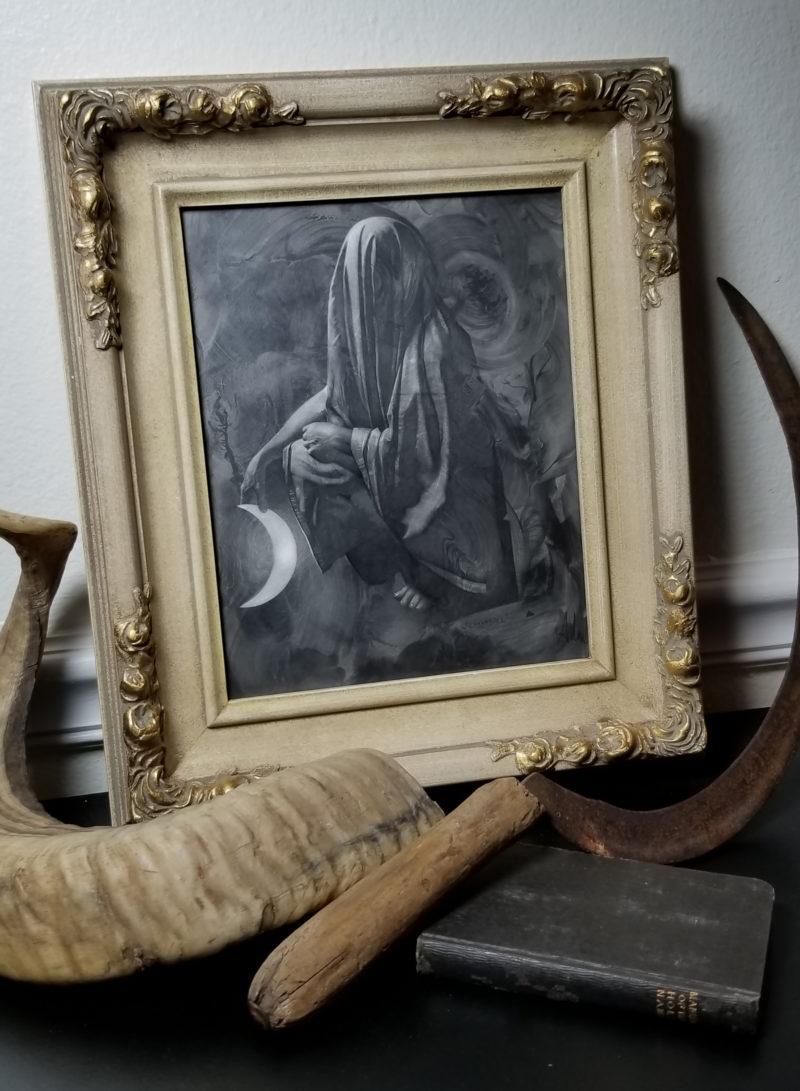 Allen Williams Original powdered graphite and pencil piece