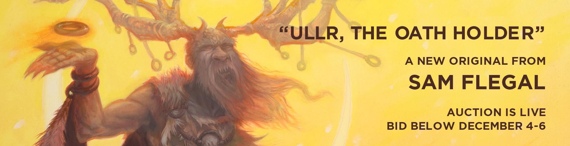Ullr, an oil ainting by Sam Flegal