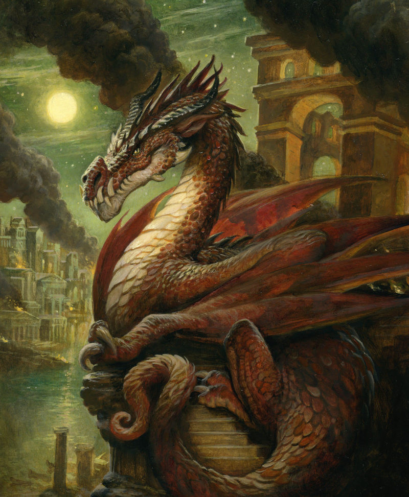 Justin Gerard - Fire Dragon on EDO Auctions