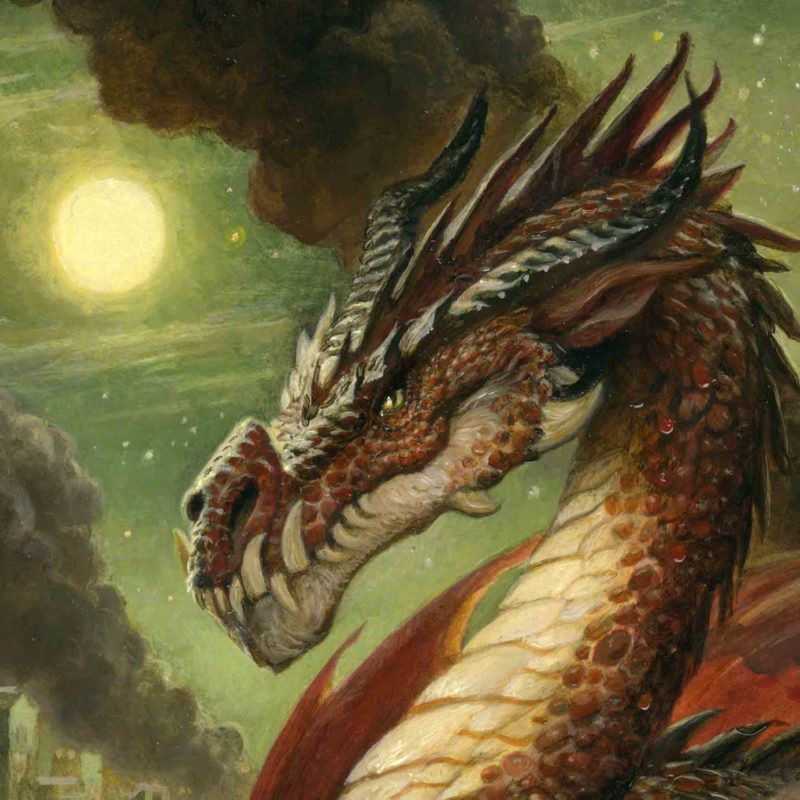 Justin Gerard EDO Auctions Fire Dragon Detail