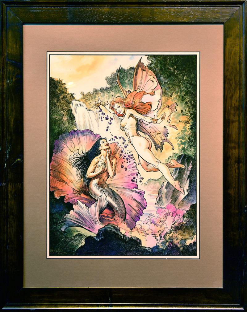 Boris Vallejo - EDO Auction - Flower-Framed