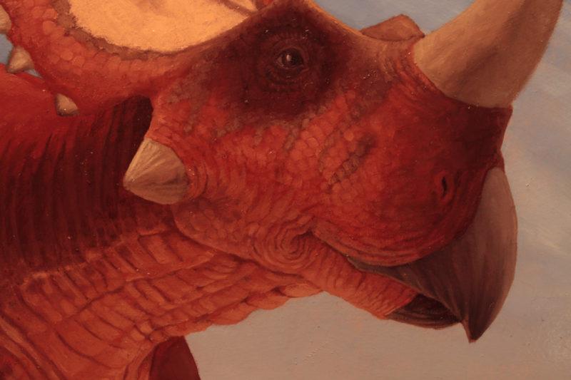 Detail of Rubeosaurus by Owen William Weber