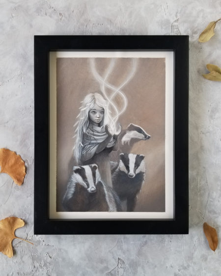 Girl With Badgers