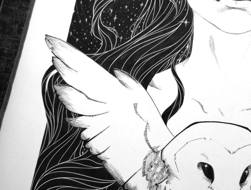 Arianrhod Owl Detail