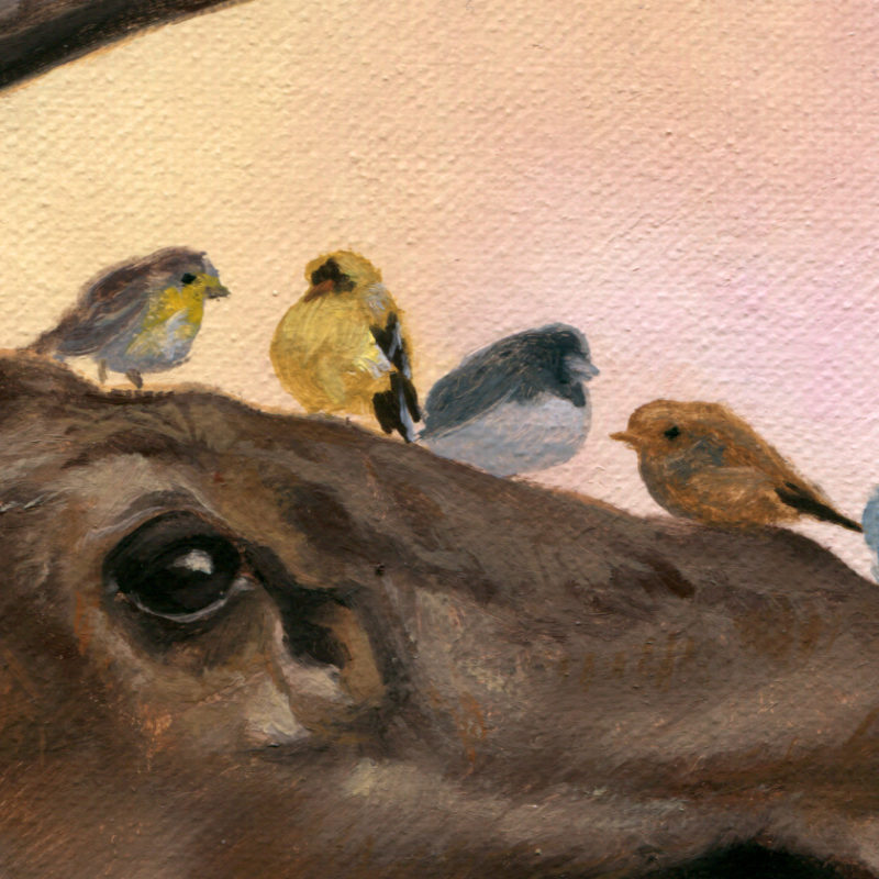 """Friends"" (detail) by Randy Gallegos"