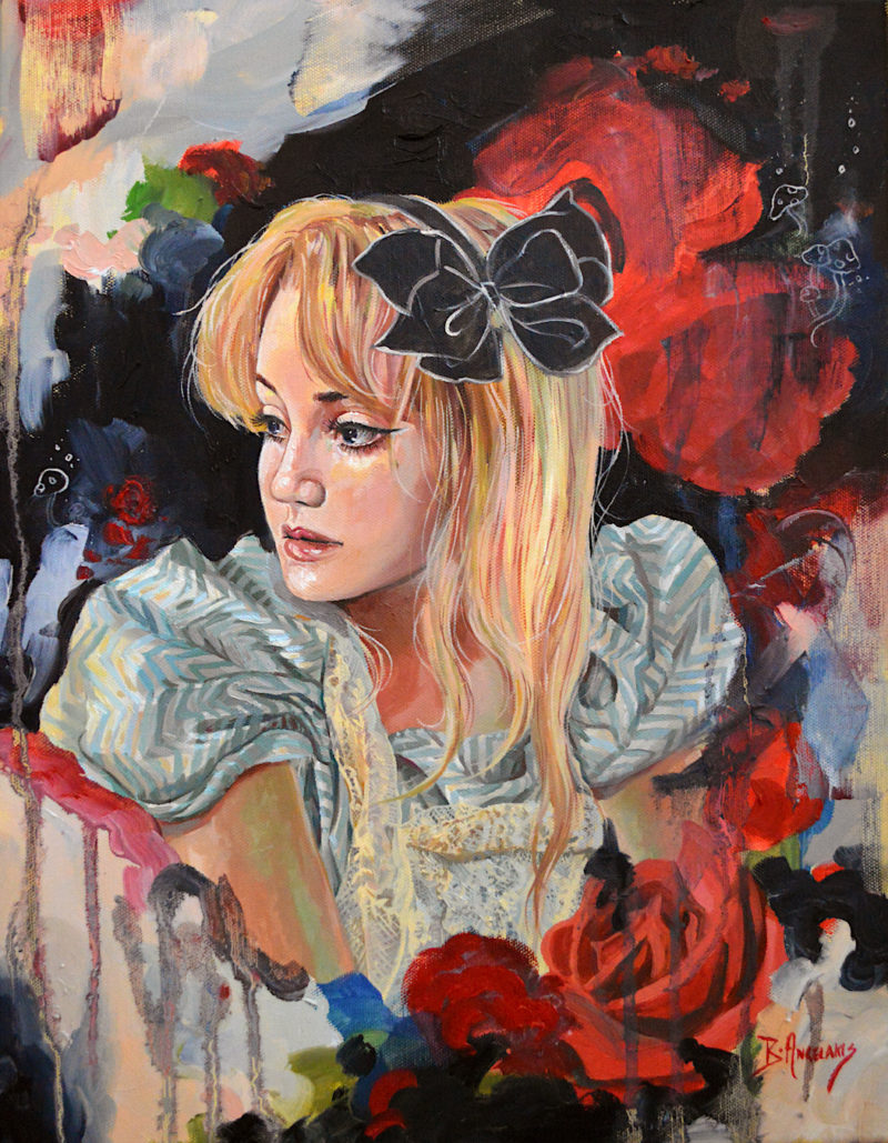 Alice with Roses by Brianna Angelakis