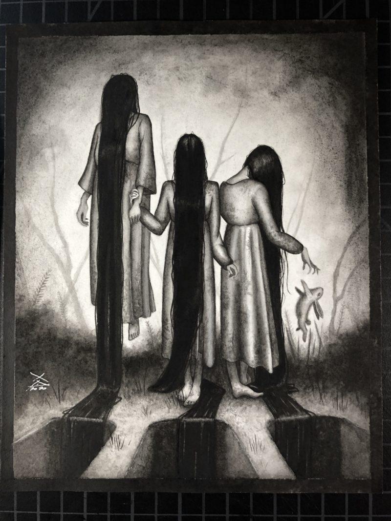 """Black Haired Girls"" by Xavier"