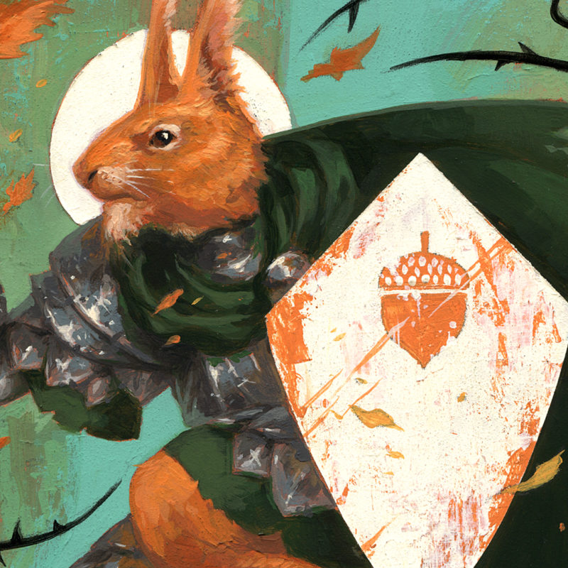 The Acorn Knight, Detail