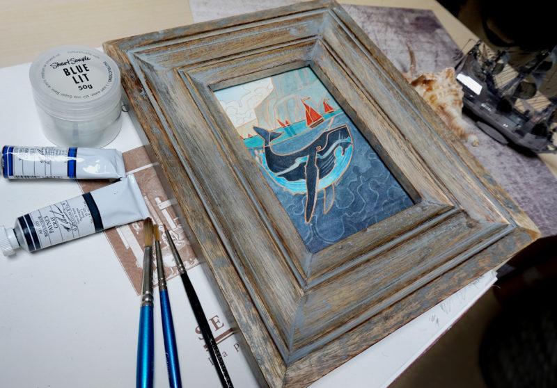Galinn Seas, framed