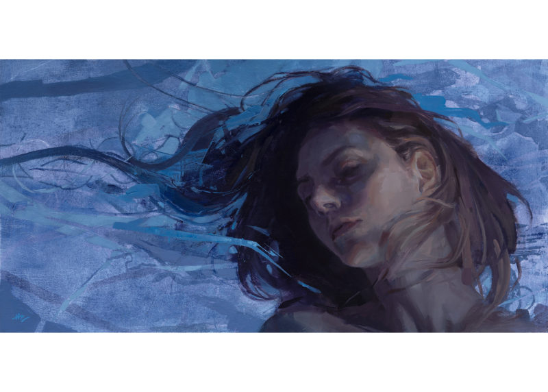 "HilaryClarcq - ""Deflection"" - Oil Painting"