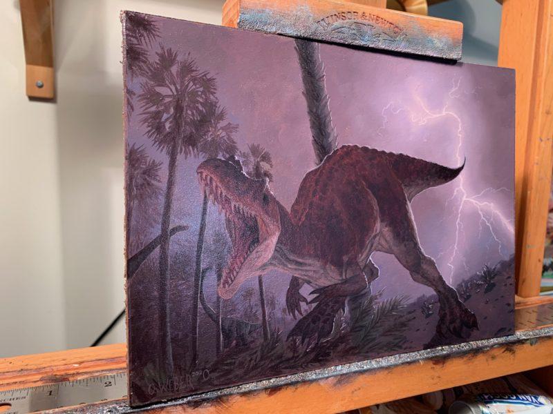 Side View of Ceratosaurus by Owen William Weber