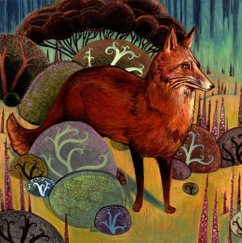 """""""Fox and Foxglove"""" -- by Danny Schwartz"""