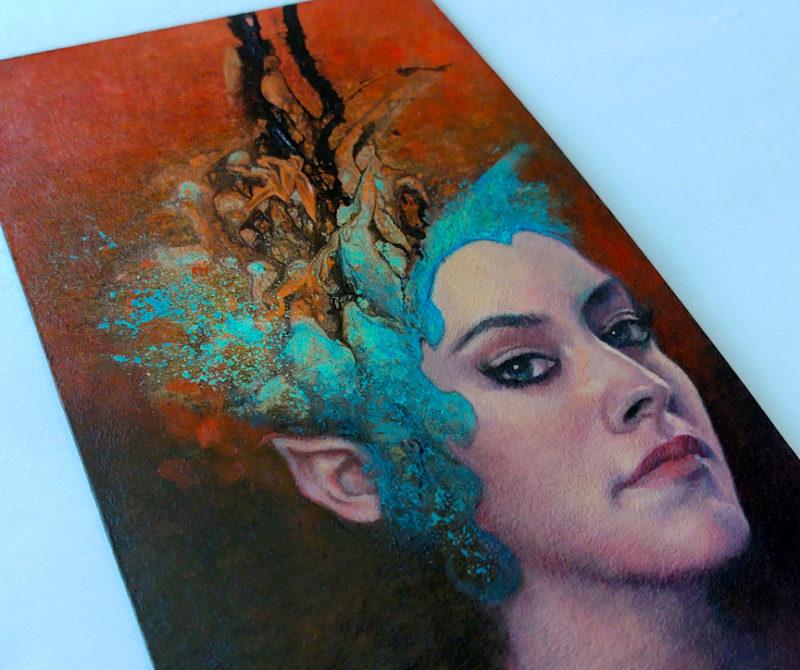 Pegaea at Twilight detail by Lisa L. Cyr