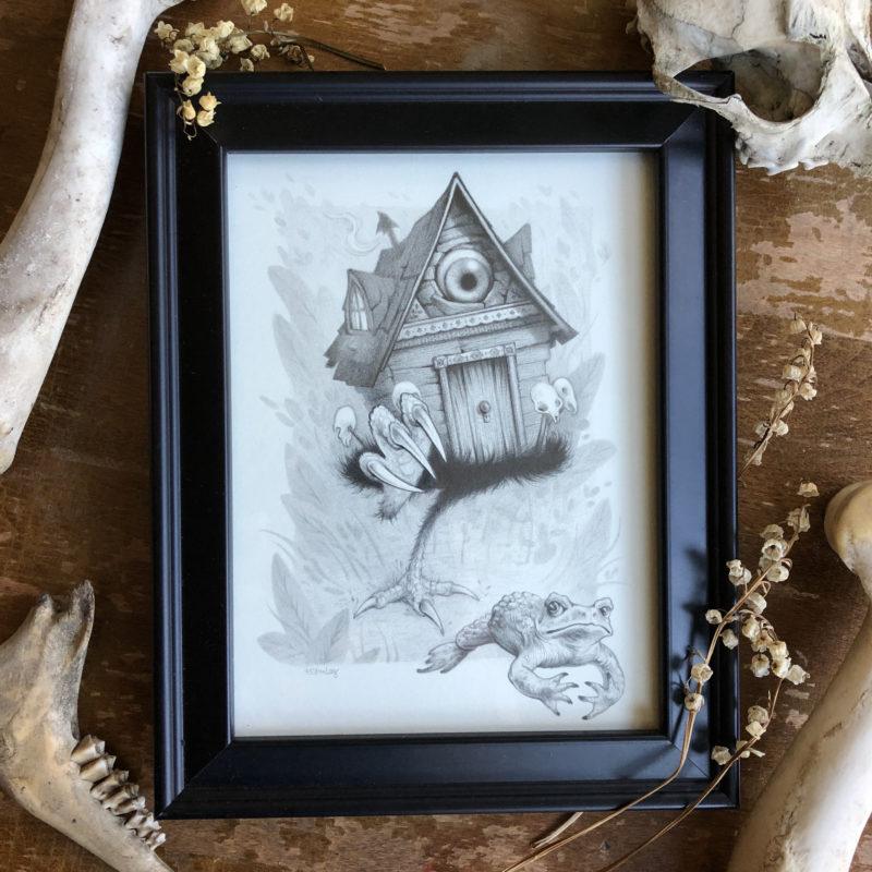 """""""Terror in the Garden"""" (framed) - by Melissa Sue Stanley"""
