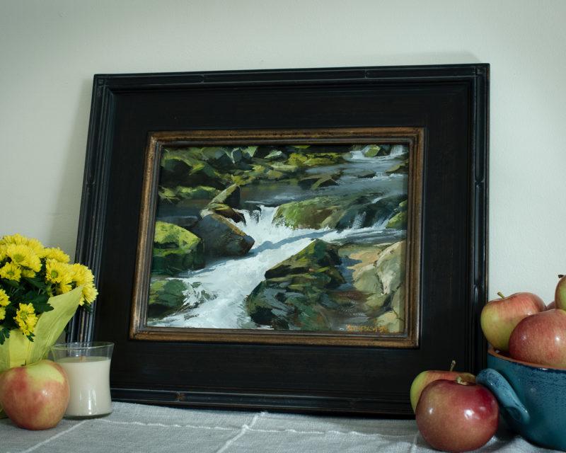 """""""Spring at Sanderon Brook"""" Framed"""