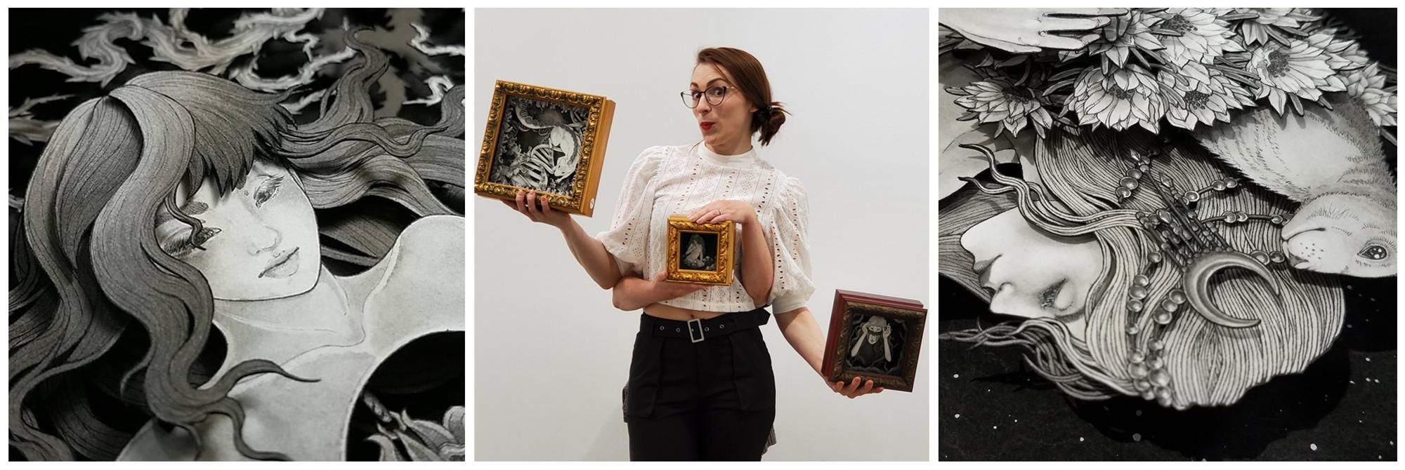 Daria Aksenova Art vs. Artist collage