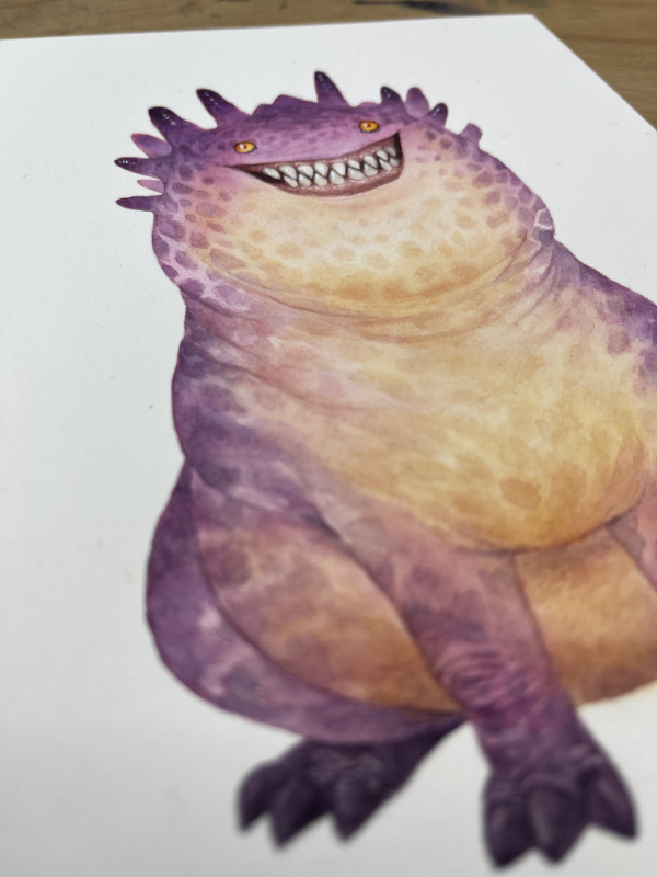 Picture of a chubby monster
