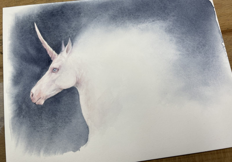 Unicorn painting photograph