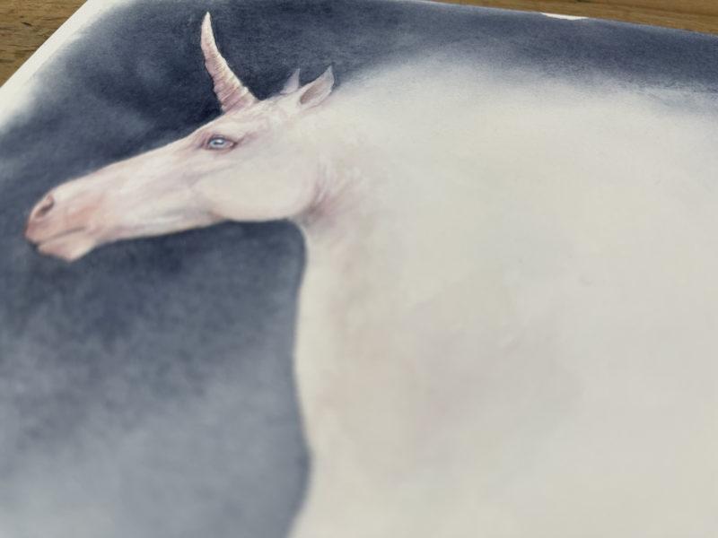 Unicorn painting detail