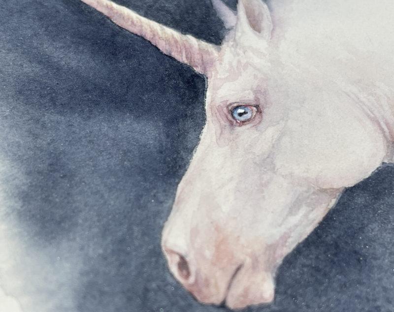 Unicorn painting close up