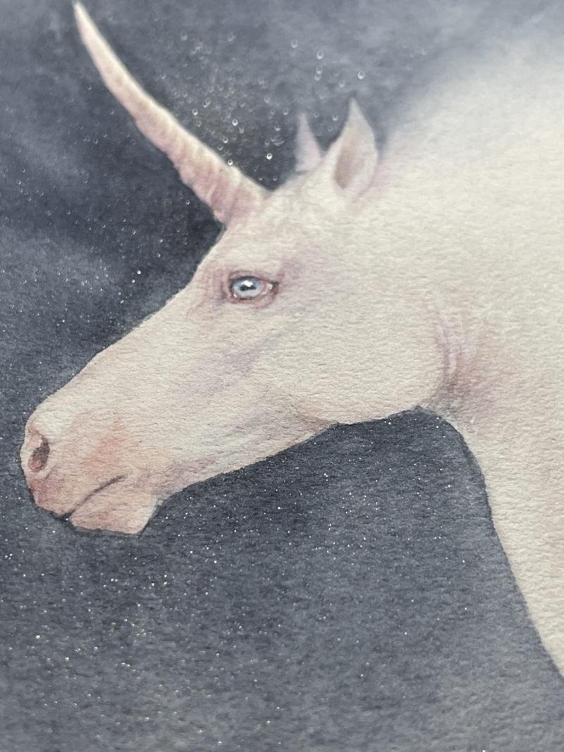 Unicorn painting close up 2