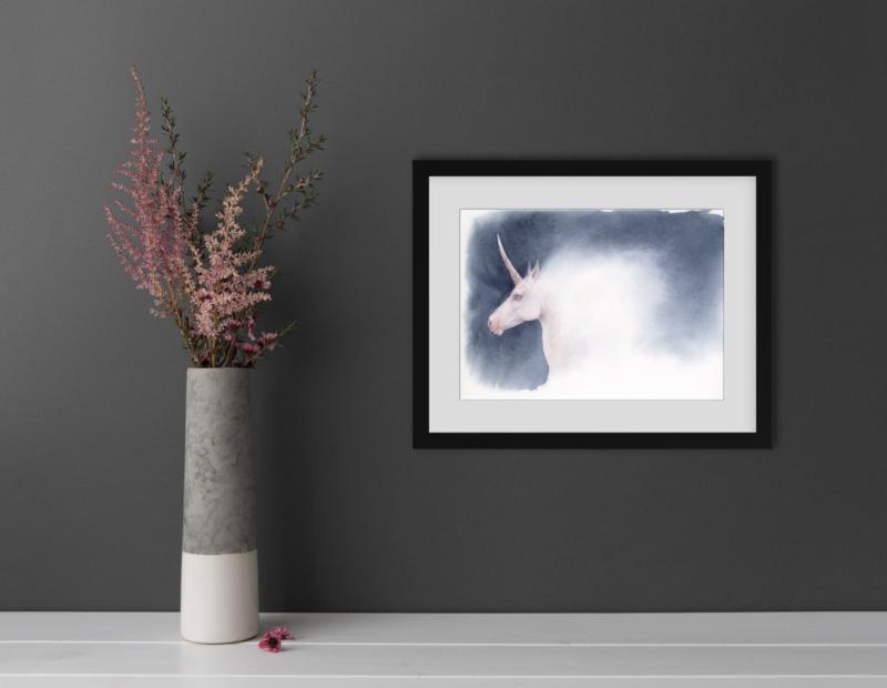 Unicorn painting mockup